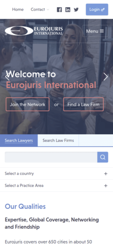 Eurojuris International mobile Version